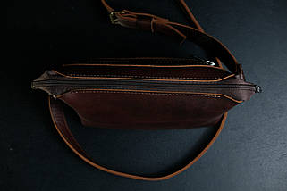 Сумочка Літо Шкіра Італійський краст колір Вишня, фото 2