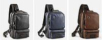 Мужская кожаная сумка. Модель 61381, фото 2