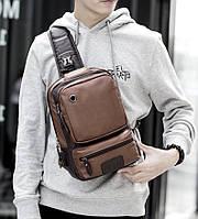 Мужская кожаная сумка. Модель 61381, фото 7