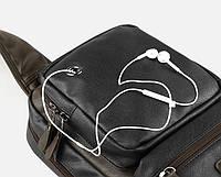 Мужская кожаная сумка. Модель 61381, фото 5