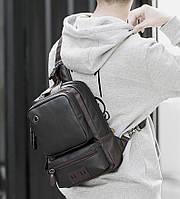 Мужская кожаная сумка. Модель 61381, фото 8