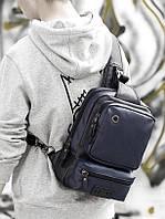 Мужская кожаная сумка. Модель 61381, фото 9