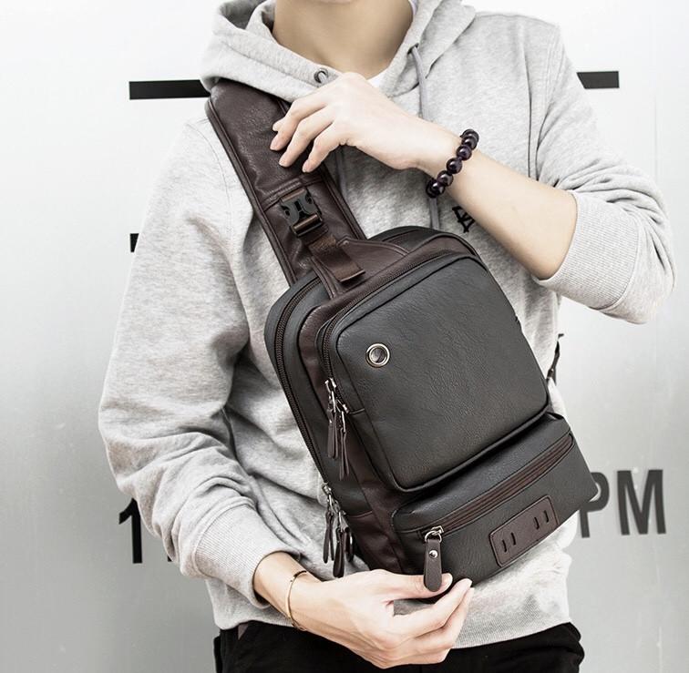 Чоловіча шкіряна сумка. Модель 61381