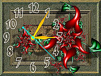Часы настенные Картина с цветами 30х40 см