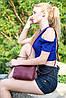 Сумка женская. Кожаная сумочка Лето Кожа Флотар цвет Пудра, фото 5