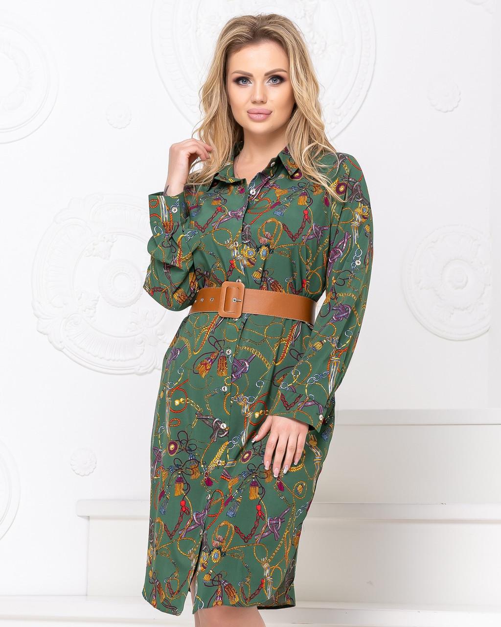 """Стильне плаття-сорочка """"Камілла"""" розміри 48,50,52"""