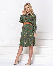 """Стильне плаття-сорочка """"Камілла"""" розміри 48,50,52, фото 3"""
