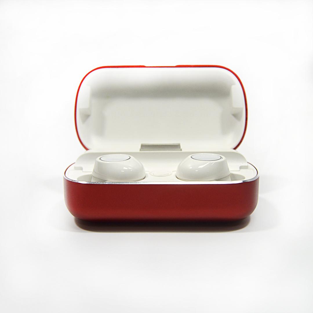Bluetooth беспроводные наушники с водозащитой TWS s8 5.0 (блютуз гарнитура с кейсом-зарядкой) (красные)
