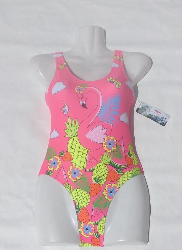 """Купальник детский сдельный """"Фламинго"""". Размеры 28-36.Розовый. Оптом."""