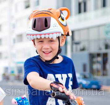 Шлем детский с дизайном тигра CIGNA(оранжевый)