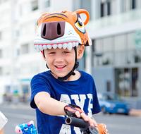 Шлем детский с дизайном тигра CIGNA(оранжевый), фото 1
