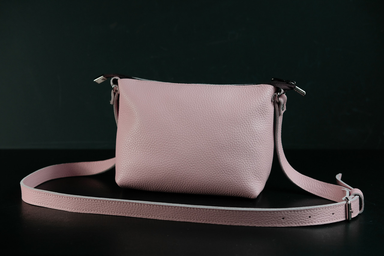 Сумка женская. Кожаная сумочка Лето Кожа Флотар цвет Пудра