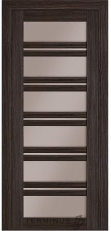 Дверь межкомнатная Terminus Модель Милан цвет Венге (застекленная)