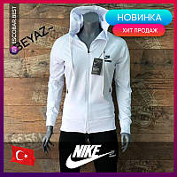 Женский спортивный костюм Nike белый. Жіночий спортивний костюм Nike білий