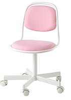 Детское рабочее компьютерное кресло регулируемое розовое  (от 6-12 лет)