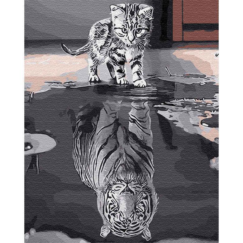 Картина раскраска по номерам на холсте - 40*50см BrushMe GX25713 Душа тигра 2