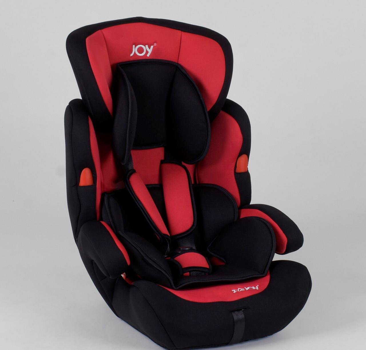 Автокресло универсальное JOY NB-7104 (4) цвет черно-красный с бустером Гарантия качества