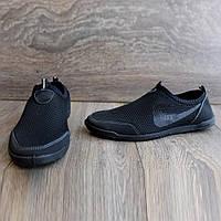 Мокасини чоловічі літні сітка чорні кроссовки бл-30н_