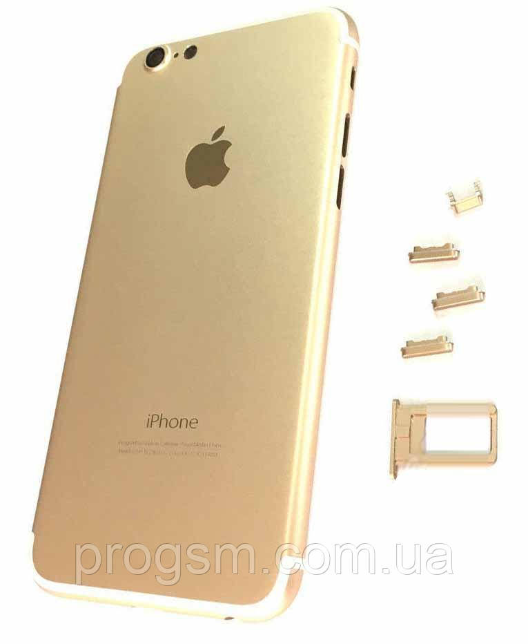 """Крышка задняя iPhone 6 (4.7"""") подобно 7 Gold"""