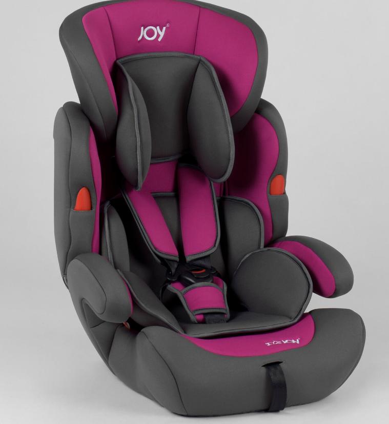 Автокресло универсальное  JOY NB-5003 цвет серо-фиолетовый с бустером Быстрая доставка