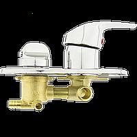 Змішувач душової кабіни (S 3-60мм) на три положення під штуцер, в стійку душової кабіни.