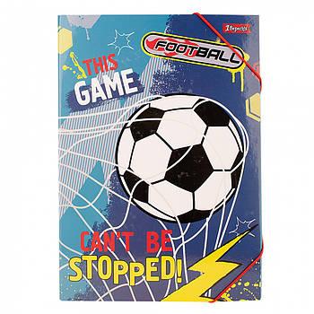 Детская картонная папка для творчества A4 1Вересня Team football 32х23х4см Разноцветная (491894)