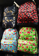 Рюкзак молодежный городской принт арбузы  женский
