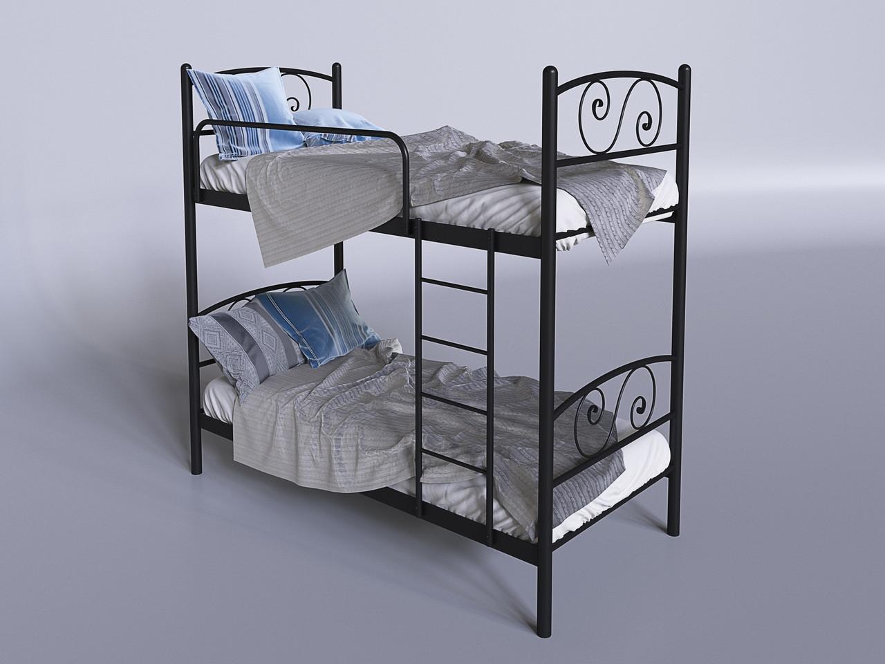 Металлическая двухъярусная кровать Виола ТМ Tenero