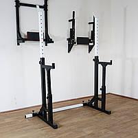 Лавка регульована для жима (до 300 кг) зі Стійками (до 250 кг). Штанги пряма, фото 6