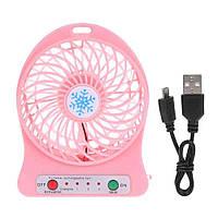 Аккумуляторный настольный вентилятор xsfs-01 Pink #S/O