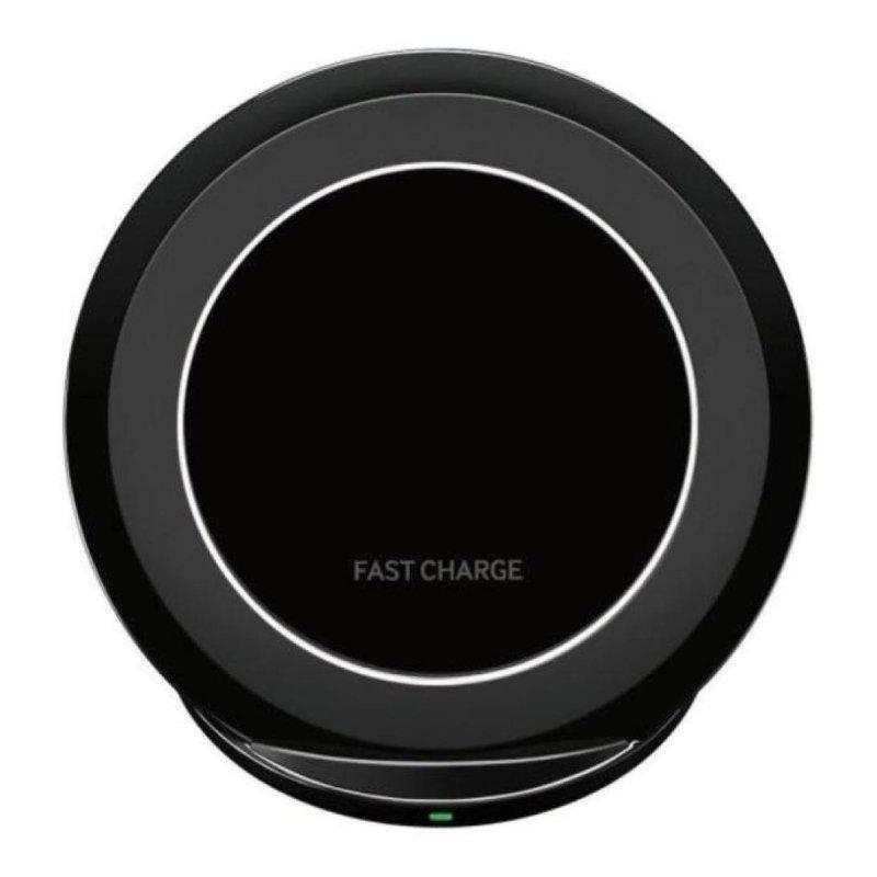 Устройство зарядное беспроводное JETIX S7 Fast Charge Black с фунуцией быстрой зарядки