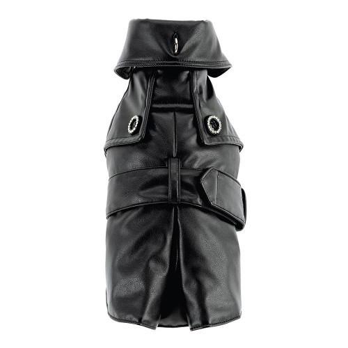 Пальто Ferplast Sherlock LUX TG 34 с ошейником, для собак, черное, 25-29 см
