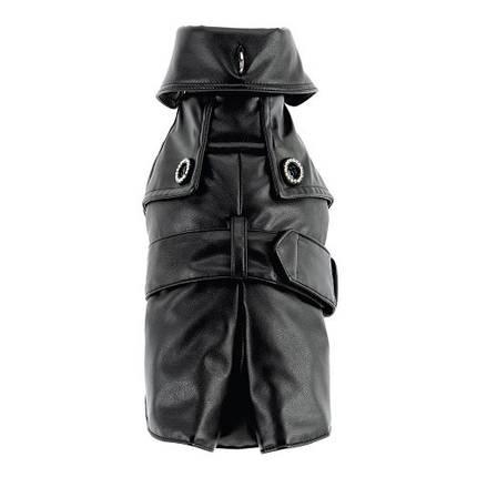 Пальто Ferplast Sherlock LUX TG 34 с ошейником, для собак, черное, 25-29 см, фото 2