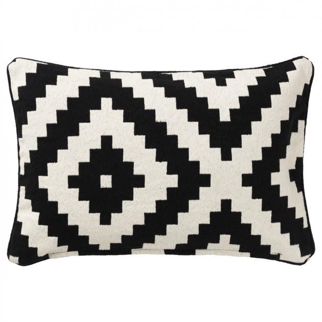ЛЕППЛЬЮНГ РУТА Чехол на подушку, белый, черный, 40x65 см 00281892 ИКЕА, ІКЕА, LAPPLJUNG RUTA