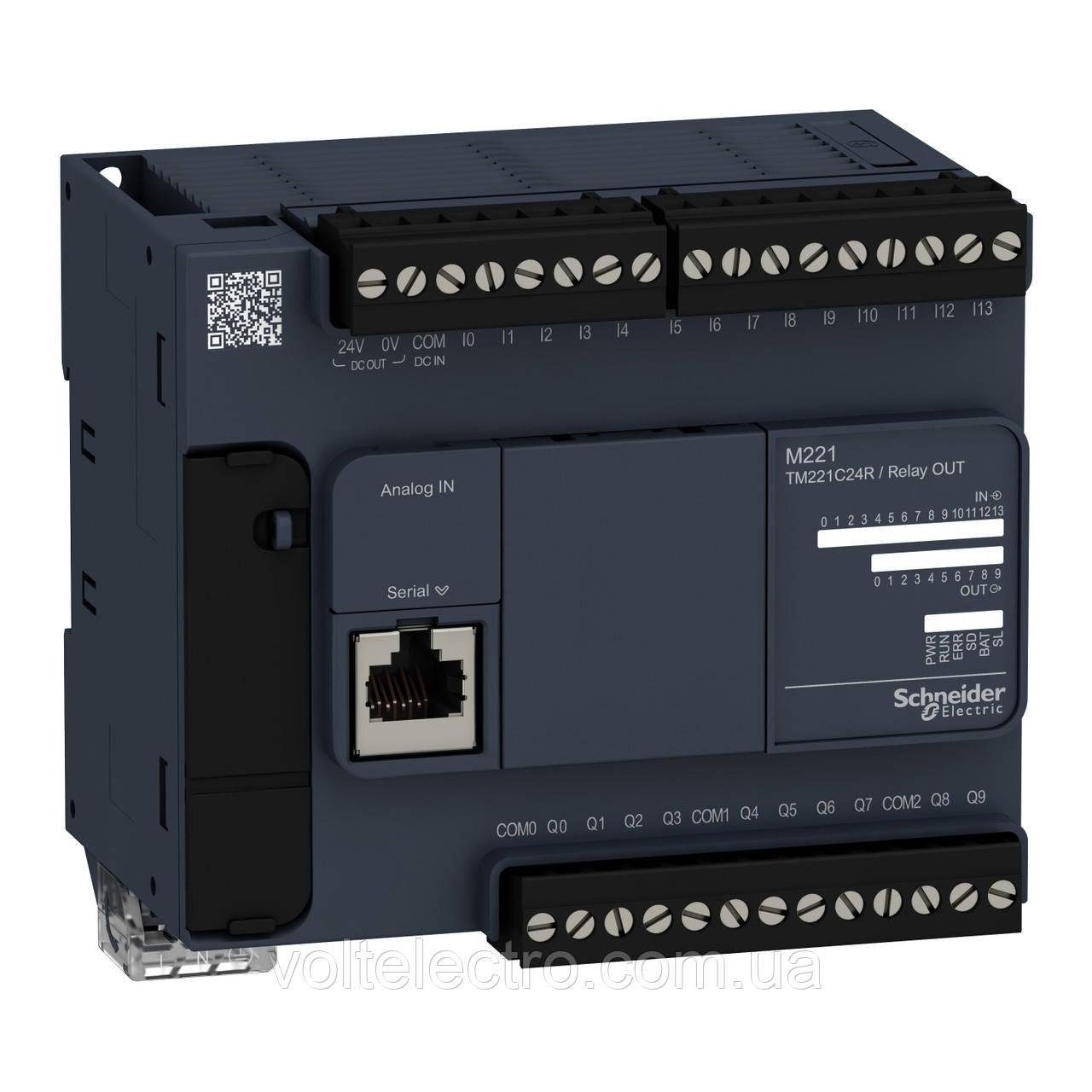 Логический контроллер Modicon M221-24IO транзисторный источник  24В