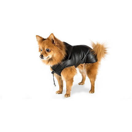 Плащ-дождевик Ferplast Trench Black TG 25 для собак, черный, 25 см, фото 2