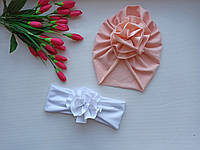 Шапочка чалма с цветком
