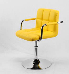 Кресло на устойчивом хромированном основании с подлокотниками из эко-кожи Arno-Arm CH - Base для сферы услуг, фото 2