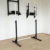 Лавка регульована для жима (до 300 кг) зі Стійками (до 200 кг). Штанги пряма, w-подібна та гантеліі, фото 8