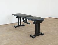 Лавка регульована для жима (до 300 кг) зі Стійками (до 200 кг). Штанги пряма, w-подібна та гантеліі, фото 9
