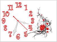 Настенные кварцевые часы для декора дома Красная фантазия 30х40 см