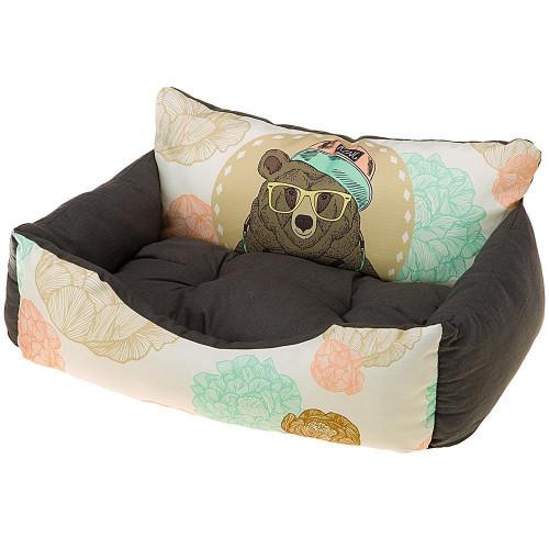 Лежанка з синтетичної тканини Ferplast Royal 80 Bedding Ursus для кішок і собак, 78x56x28 см