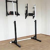 Лавка регульована для жима (до 300 кг) зі Стійками (до 250 кг). Штанги пряма, w-подібна та гантеліі, фото 8