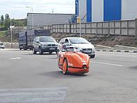 В Украине засняли уникальный самодельный электромобиль