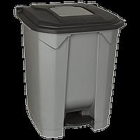 Бак для мусора с педалью Planet 50 л серо-черный