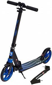 Самокат двухколесный Maraton Sprint Синий большие колеса