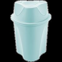 Ведро для мусора Planet Twist 23 л серо-голубое