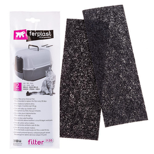Ferplast L135 Filter For Toilette запасной угольный фильтр для кошачьих туалетов