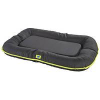 Мягкая подушка из прочного материала Oscar 100 Cushion Black для собак с бортиками, черная, 100x70x12 см
