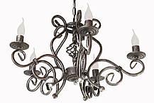 """Кованое бра  """"Версаль""""  с хрусталем и абажурами белое  на 2 лампы, фото 2"""
